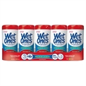 Picture of Wet Ones Anibacterial Hand Wipes - Fresh Scent - 5 pk.