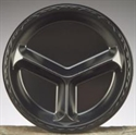 """Picture of 10"""" Comp Pl 500 Black Laminated Foam Plate"""