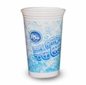 """Picture of 16 Oz Plasic Cup / Lid  Printed """"Ice Cold To Go"""""""