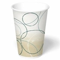 Picture of Champagne 7 oz Cold Double Poly-coated Cup  W/Lid