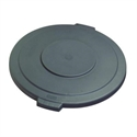 Picture of Bronco Gray 20 Gal  Round Trash Can Lid