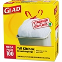 Picture of Glad Drawstring 13 Gallon Tall Kitchen Trash Bag