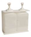 Picture of 32 oz Acrylic Oblong Dispenser Brackets - White