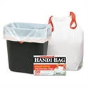 Picture of Handi-Bag 13 Gallon DrawString .9 mil Kitchen Trash Can Liner- White